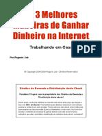 As 3 melhores maneiras de ganhar dinheiro na internet.PDF