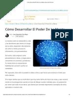 Cómo Desarrollar El Poder De La Mente _ Desarrollo Personal.pdf