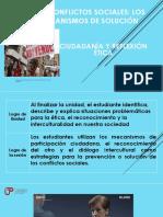 Los Conflictos Sociales y Mecanismos de Participación Ciudadana