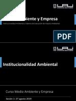 Medio Ambiente y Empresa_Institucionalidad Ambiental.pptx