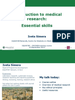 EQUATOR-Medical-research-skills-Introduction-Iveta-Simera