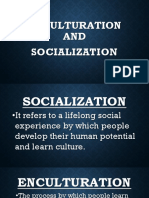 Enculturation and Socialization