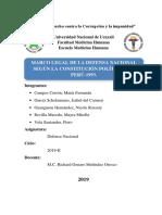MARCO LEGAL DE LA DEFENSA NACIONAL SEGÚN LA CONSTITUCIÓN POLÍTICA DEL PERÚ-1993 (1).docx