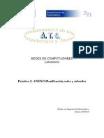 Pract 2.ANEXO Planificación Redes Subredes
