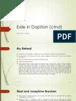 Exile in Dapitan (Ctnd)