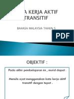 Kata Kerja Aktif Transitif
