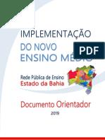 Documento Orientador da Implementação do Novo Ensino Médio da Bahia.pdf
