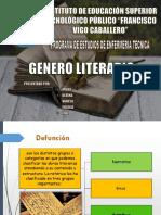 Genero Literario - Diapositiva