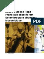 João Paulo II e Papa Francisco escolheram Setembro para abençoar Moçambique.docx