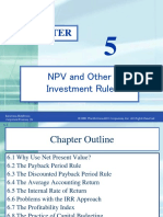 06. NPV & Other Investment Rules - Ross