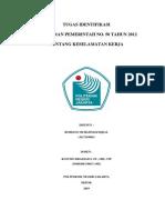 Tugas Harian k3 Identifikasi Pp 50:2012