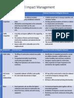 Mitigation and Impact Management