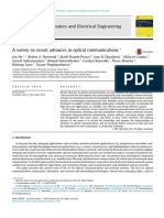 A survey on recent advances in optical communications