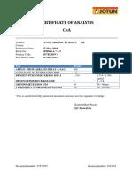 Batch Certificate Sample