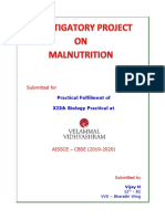 project on malnutrition