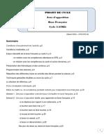 Boxe Francaise Cycle 3(CM2)G Orsi