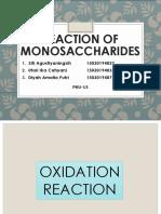 REACTION OF MONOSACCHARIDES