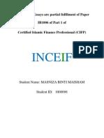 IB1006 Short Essays - Masniza