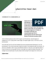 Bank vreest cybercrime meer dan witwassen | Computable.nl