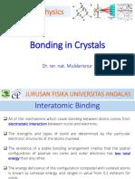 Lecture 3 Atomic Bonding