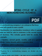 Accounting Cycle of a Merchandising Business
