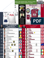Premier League week 16 191207 16.00 Tottenham - Burnley 5-0