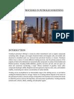 Treatment processes in petroleum refining