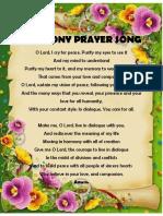 Harmony Prayer Song