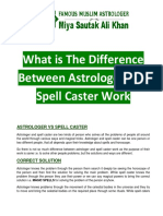 WHat is the Difference Bewteen Astrologer and Spell Caster Work