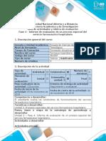 Guia de actividades y rubrica de evaluacion - Fase 4 - Informe de evaluación de un proceso especial del servicio farmacéutico hospitalario (1).docx