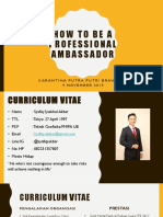 How to be a Professional Ambassador