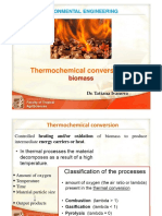 Thermochemical conversion of biomass