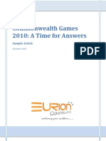 EURION - CWG 2010 - A Time for Answers