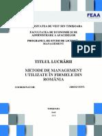 Lucrare de licenta - METODE DE MANAGEMENT FOLOSITE IN FIRMELE DIN ROMANIA.doc