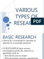 VARIOUS TYPES OF RESEARCH.pptx