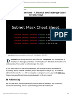 Subnet Mask Cheat Sheet - A Tutorial and Thorough Guide to Subnetting - 2