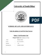 Cpc Project Jurisdiction of Court