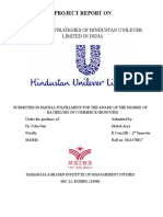 PROJECT REPORT ON MARKETING STRATEGIES OF HINDUSTAN UNILEVER LIMITED