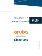 ClearPass Technote ClearPass67 License Conversion v2018 02