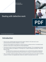 LAW6CON Dealing with defective work
