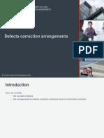 LAW6CON Defects correction arrangements