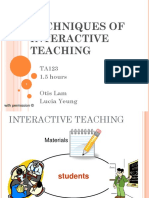 Techniques of interactive teaching