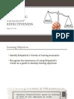 measuring training effectiveness presentation