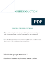 Class One Python Introduction