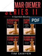 Blackmar-Diemer Series II 4 Gambit Books Chess BDG Book 10 - Tim Sawyer