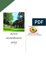 Glosas Acto Academico Ues Cerrito 2019