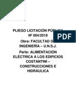 PLIEGO LICITACIÓN PÚBLICA Nº 0042018Obra FACULTAD DE INGENIERÍA –U.N.S.J..pdf