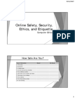 LESSON 1.2 - Online Safety, Security, Ethics, And Etiquette