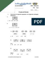 Prueba de Entrada de Razonamiento Matematico PE1-Ccesa007