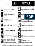RPG Table Rules